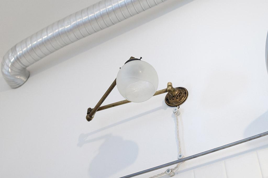 Archimede - Punto luce - Impianti in Porcellana e Cavo di Seta
